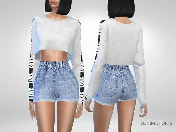Denim Shorts sims 4 c