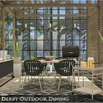 Derby Outdoor Dining sims 4 cc