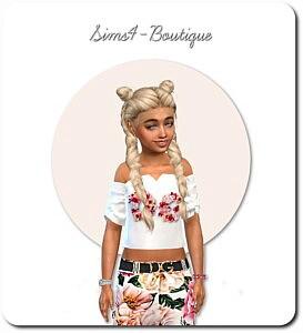Designer Set for Child Girls sims 4 cc