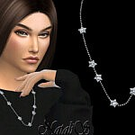 Diamond star chain necklace sims 4 cc