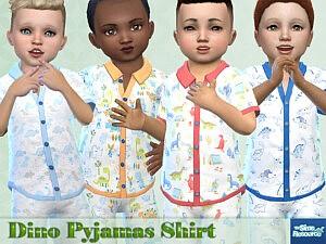 Dino Pyjamas Shirt sims 4 cc