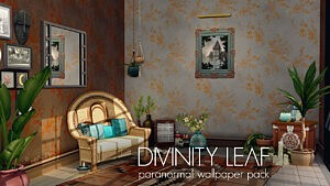 Divinity Leaf Paranormal wallpaper pack sims 4 cc