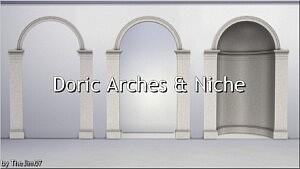 Doric Arches and Niche sims 4 cc