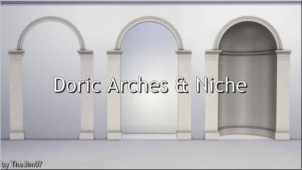 Doric Arches and Niche sims 4 cc1