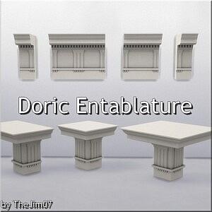 Doric Entablature sims 4 cc
