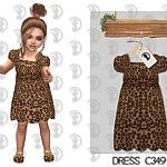 Dress C349 sims 4 cc
