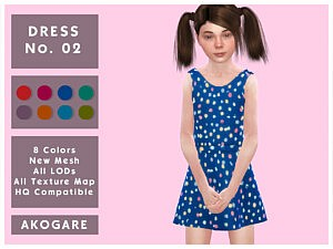 Dress N02 sims 4 cc