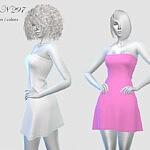Dress N297 sims 4 cc