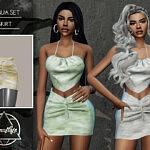 Dunja Set Skirt sims 4 cc