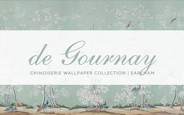Earlham Chinoiserie Wallpaper sims 4 cc