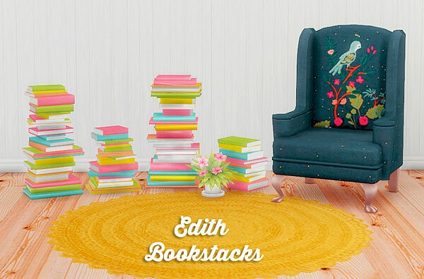 Edith bookstacks recolors from LinaCherie