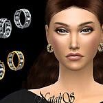 Eternity hoop earrings sims 4 cc