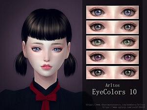 Eye Color 10 sims 4 cc