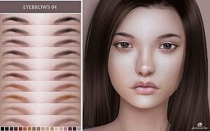 Eyebrows 04 sims 4 cc