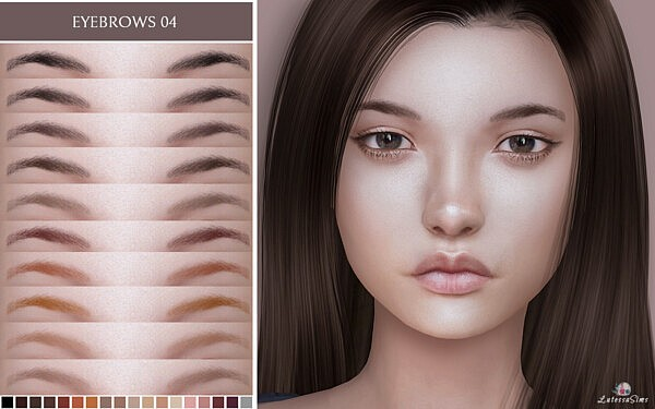 Eyebrows 04 sims 4 cc