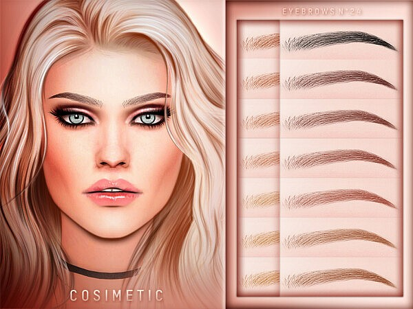 Eyebrows N24 sims 4 cc