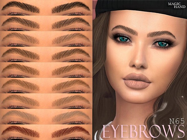 Eyebrows N65 sims 4 cc