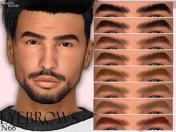 Eyebrows N68 sims 4 cc