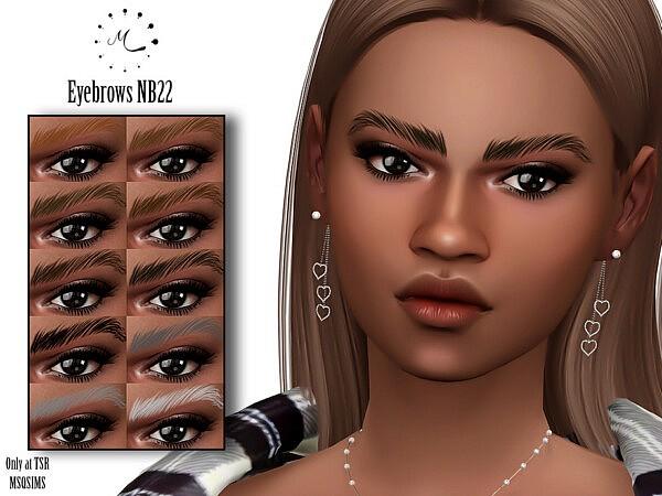 Eyebrows NB22 sims 4 cc