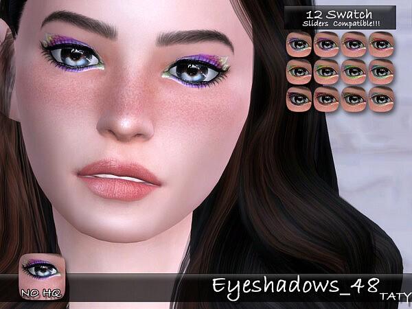 Eyeshadows 48 sims 4cc