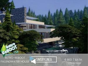 Fallingwater House sims 4 cc