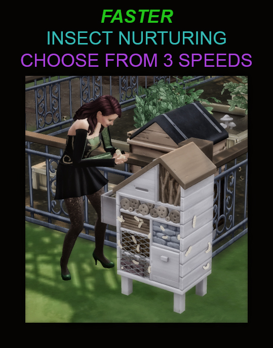 Faster Insect Nurturing sims 4 cc