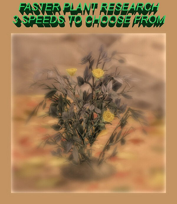 Faster Plant Research by Simmiller from Mod The Sims