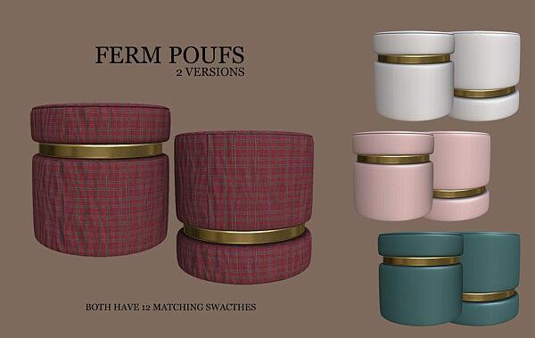 Ferm Poufs sims 4 cc
