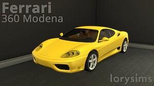 Ferrari 360 Modena sims 4 cc
