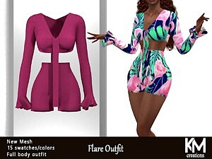Flare Outfit sims 4 cc