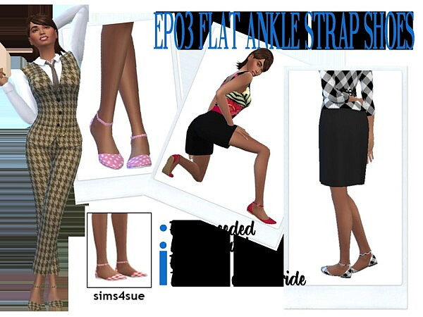 Flat Ankle Strap Shoes from Sims 4 Sue