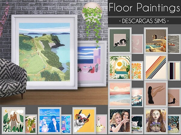 Floor Paintings sims 4 cc