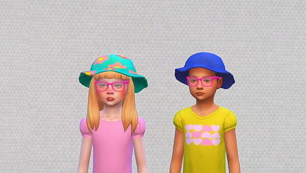 Floral hat for Children sims 4 cc
