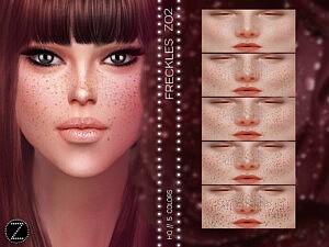 Freckles Z02 sims 4 cc