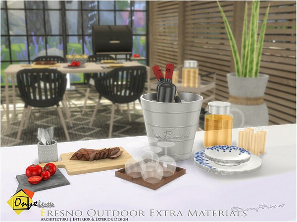 Fresno Outdoor Extra Materials sims 4 cc