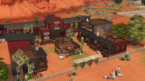 Full Western Town with Train sims 4 cc