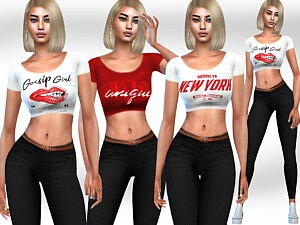 FullBody Cropped Outfits sims 4 cc