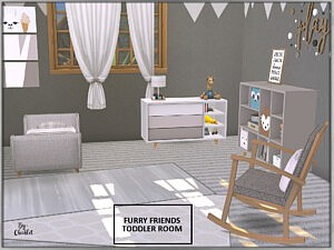 Furry Friends Toddler Bedroom sims 4 cc