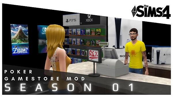 Gamestore Mod Season 01 sims 4 cc