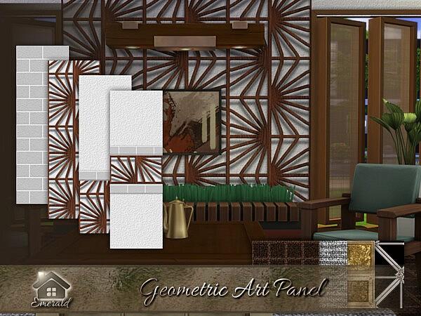 Geometric Art Panel sims 4 cc