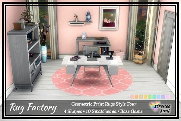 Geometric Rugs sims 4 cc