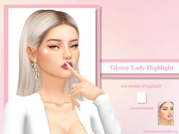 Glossy Lady Highlight sims 4 cc