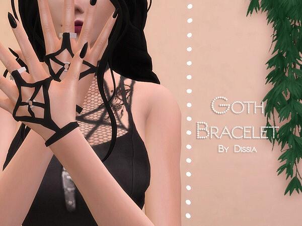 Goth Bracelets sims 4 cc