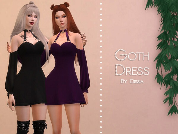 Goth Dress by Dissia from TSR