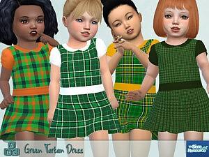 Green Tartan Dress sims 4 cc