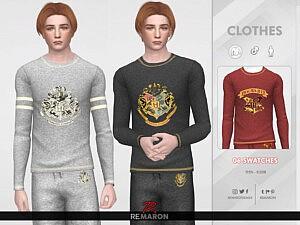 Harry Potter PJ Shirt 01 sims 4 cc