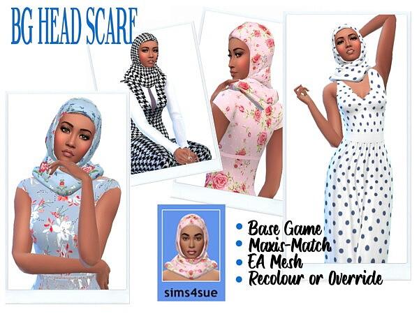 Head Scarf sims 4 cc
