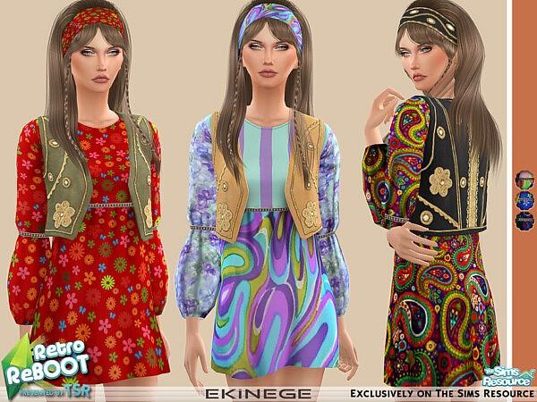 Hippie Dress sims 4 cc