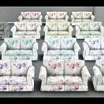 Hipster Hugger Love Seat in Grandmas Roses sims 4 ccc