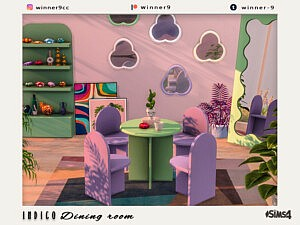 Indigo Dining room sims 4 cc